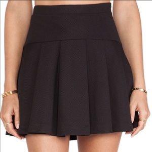BCBGeneration Black Flared Pleated Skirt